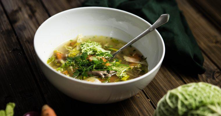 Morčací vývar s chrumkavou zeleninou
